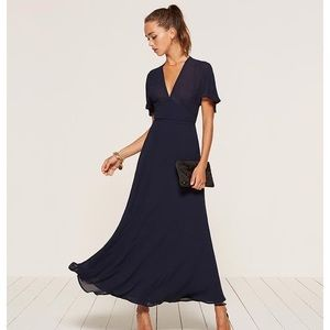 [REFORMATION] 'Maisie' Dress In Navy Blue